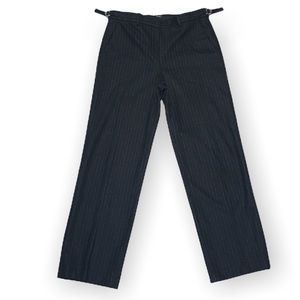 Theory stripped black tailored pants with adjustable waist 6